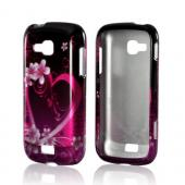 Hot Pink/ Purple Flowers &amp; Heart Hard Case for Samsung ATIV Odyssey