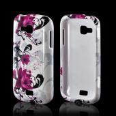 Magenta Flowers &amp; Black Vines on White Hard Case for Samsung ATIV Odyssey