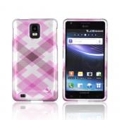 Samsung Infuse i997 Hard Case - Baby Pink Plaid on silver