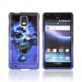 Samsung Infuse i997 Hard Case - Blue Skull