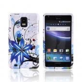 Samsung Infuse i997 Hard Case - Blue Flower Splash on White