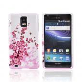 Samsung Infuse i997 Hard Case - Pink Flowers on White