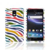 Samsung Infuse i997 Hard Case - Rainbow Zebra on White