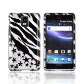 Samsung Infuse i997 Hard Case - Black Zebra & Stars on Silver