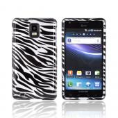Samsung Infuse i997 Hard Case - Black Zebra on Silver