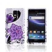 Samsung Infuse i997 Hard Case - Purple Lilly on White
