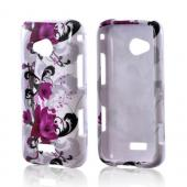Samsung Galaxy Victory 4G LTE Hard Case - Magenta Flowers &amp; Black Vines on White