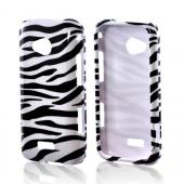 Samsung Galaxy Victory 4G LTE Hard Case - White/ Black Zebra