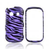 Samsung Seek M350 Hard Case - Purple/Black Zebra