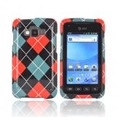 Samsung Rugby Smart i847 Hard Case - Red/ Black/ Gray Argyle
