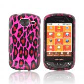 Samsung Brightside Hard Case - Hot Pink/ Black Leopard