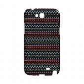 Multi-Shapes & Colors on Black Geeks Designer Line Zig Zag Series Slim Hard Case for Samsung Galaxy Note 2