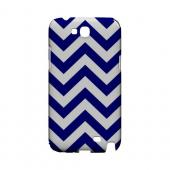 Navy Blue on White Geeks Designer Line Zig Zag Series Slim Hard Case for Samsung Galaxy Note 2