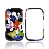 Samsung Freeform 3 Hard Case - Rainbow Butterflies on Black