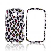 Samsung Freeform 3 Hard Case - Rainbow Leopard on White