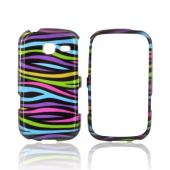 Samsung Freeform 3 Hard Case - Rainbow Zebra on Black