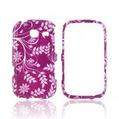 Samsung Freeform 3 Hard Case - White Flowers &amp; Vines on Purple