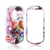Samsung Messager III R570 Hard Case - Rainbow Autumn Floral Design on White