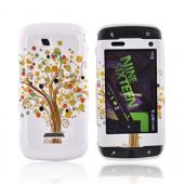 Samsung Sidekick 4G Hard Case - Brown Tree &amp; Dots on White