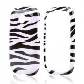Black Zebra on White Hard Case for Samsung Gravity Q