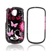 Samsung Gravity Smart Hard Case - Pink Flowers &amp; Butterflies on Black