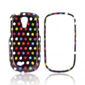 Samsung Gravity Smart Hard Case - Rainbow Polka Dots on Black