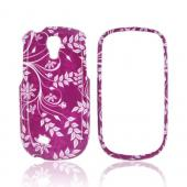 Samsung Gravity Smart Hard Case - White Flowers/ Vines on Purple