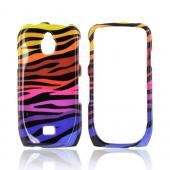 Samsung Exhibit T759 Hard Case - Rainbow Zebra