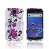 T-Mobile Samsung Galaxy S2 Hard Case - Pink Flowers on White