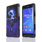 Blue Skull Sony Xperia Z2 Plastic Hard Case Cover, Great Basic Protection!