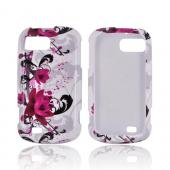 ZTE Fury N850 Hard Case - Pink Flowers on White