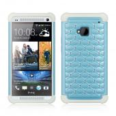 Baby Blue Hard Cover w/ Bling Over White Silicone for HTC One
