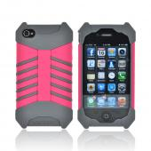 Ventev GRIPGuard Apple iPhone 4/4S Hard Shell on Silicone Case - Transformer Pink/ Gray