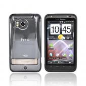 HTC Thunderbolt Hard Back w/ Gummy Border Case - Black/Clear