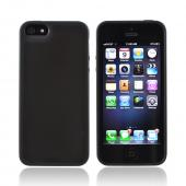 Apple iPhone 5 Hard Back w/ Gummy Silicone Border - Black