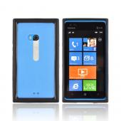Nokia Lumia 900 Hard Back w/ Crystal Silicone Border - Black/ Clear