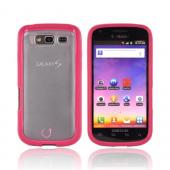 Samsung Galaxy S Blaze 4G Hard Back Case w/ Gummy Crystal Silicone Lining - Red/ Clear