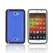 Samsung Galaxy Note Hard Case w/ Gummy Silicone Border - Blue/ Black