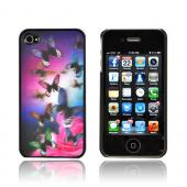 AT&amp;T/ Verizon Apple iPhone 4,iPhone 4S Hologram 3D Hard Case - Dark Butterflies