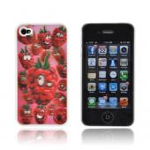 AT&amp;T/ Verizon Apple iPhone 4,iPhone 4S Hologram 3D Hard Case - Raspberries