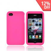 Luxmo Apple Verizon/ AT&amp;T iPhone 4, iPhone 4S Leather Molded Hard Case - Hot Pink