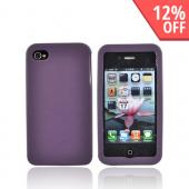 Luxmo Apple Verizon/ AT&amp;T iPhone 4, iPhone 4S Leather Molded Hard Case - Purple