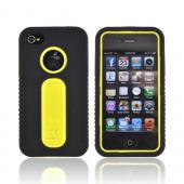AT&amp;T/ Verizon Apple iPhone 4/ iPhone 4S Silicone Over Hard Case - Black/ Yellow
