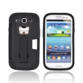 Samsung Galaxy S3 Silicone Over Hard Case w/ Bottle Opener, ID Holder & Stand - Black