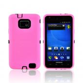 AT&amp;T Samsung Galaxy S2 Silicone Over Hard Case - Baby Pink/ Black