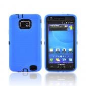AT&amp;T Samsung Galaxy S2 Silicone Over Hard Case - Blue/ Black