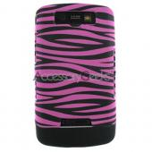 Blackberry Storm Rubberized Hard Case - Pink/Black Zebra