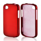 Red Rubberized Hard Case for Blackberry Q10