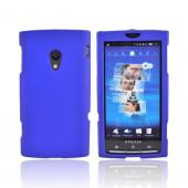 Sony Ericsson Xperia X10 Rubberized Hard Case - Blue