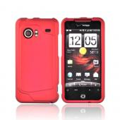 HTC Droid Incredible Rubberized Hard Case - Red